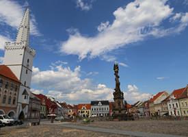 Kadaň Rathaus und Dreifaltigkeitssäule