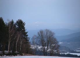 Panorama - Blick auf den Fichtelberg