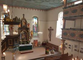 Innenaufnahme der St.-Laurentius Kirche in Elterlein