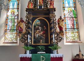 Alter der St. Laurentius Kirche in Elterlein - dieser Altar ist auf der Urkunde abgebildet.